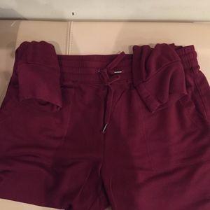 Splendid Super Soft Jogger pants, Burgandy, L